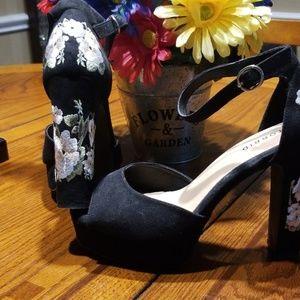 Torrid Platform Embroidered Heels
